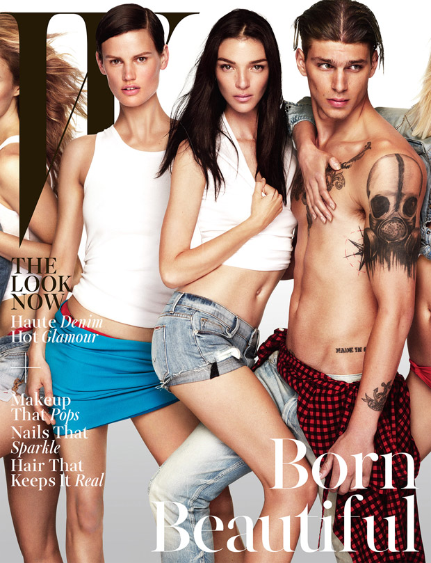 Дарья Вербова (Daria Werbowy), Лара Стоун (Lara Stone) и Кейт Мосс (Kate Moss) в журнале W Magazine (4 фото)