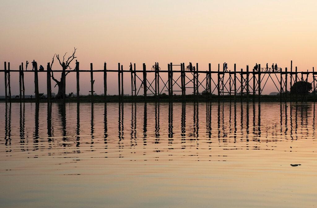 Амарапура, мост У Бейн