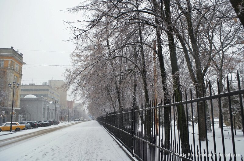 Снежный Саратов, 13 декабря 2014 года
