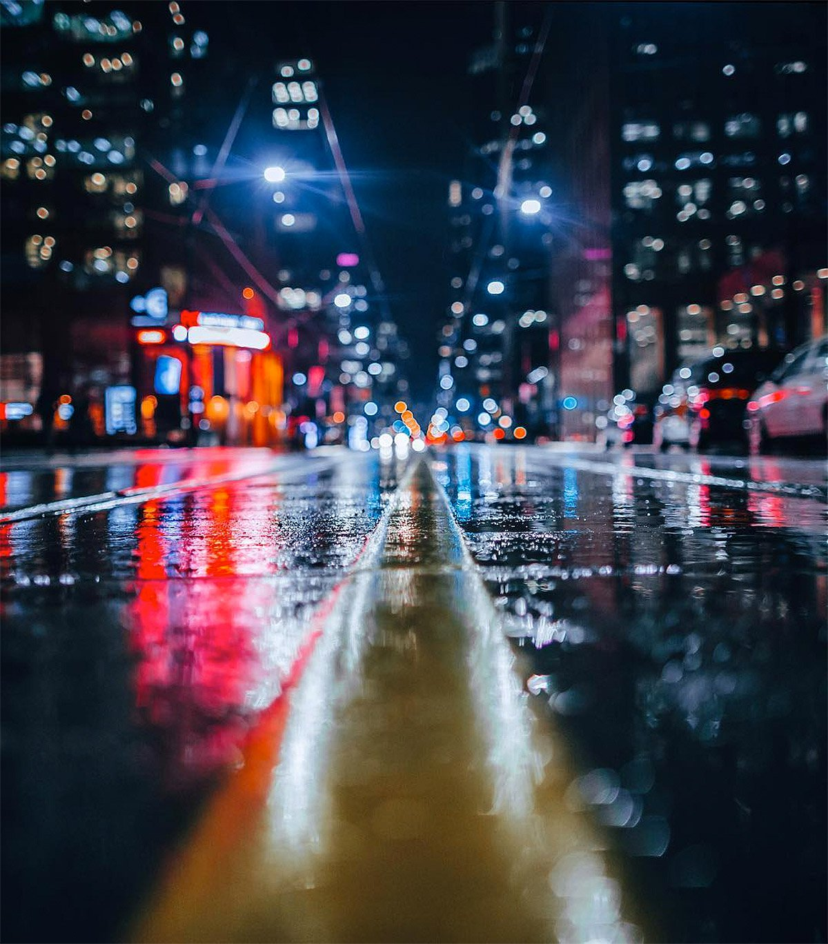 A Cinematic Stroll Through Toronto At Night