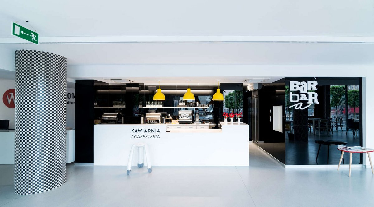 Бар Barbara, бары Вроцлав, бары в Польше, интерьер кафе, оформление бара фото, дизайн интерьера кафе, лучшие бары в мире, Major Architekci, кафе Вроцлав