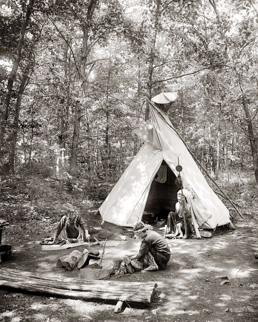 Американские бойскауты начала 20-го века на снимках фотографов (3)