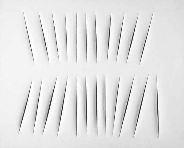"Lucio Fontana, ""Concetto Spaziale, Attese"", 1965 © Lucio Fontana"