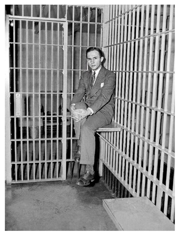 January 2, 1935 Bruno Hauptmann goes on trial for the murder of Charles Lindbergh, Jr., infant son of aviator Charles Lindbergh..jpg