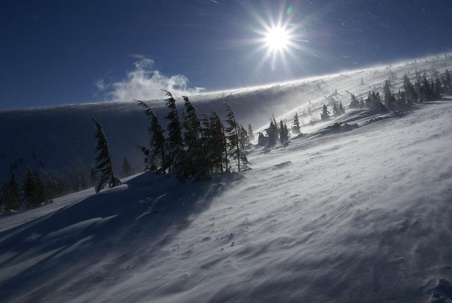 Польские горы зимой
