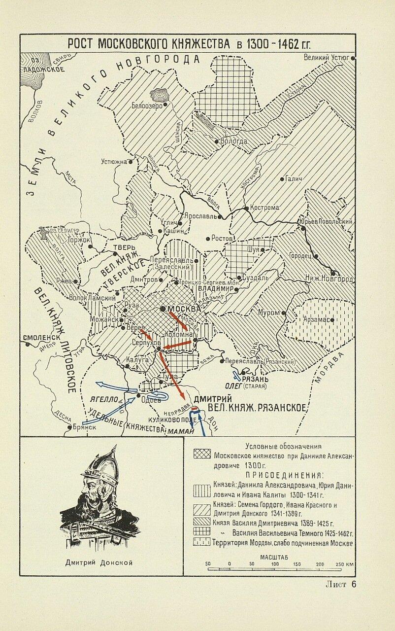 Рост Московского княжества в 1300-1462 годах