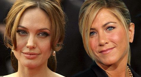 Дженнифер Энистон прикинулась, как будто не знает Анджелину Джоли