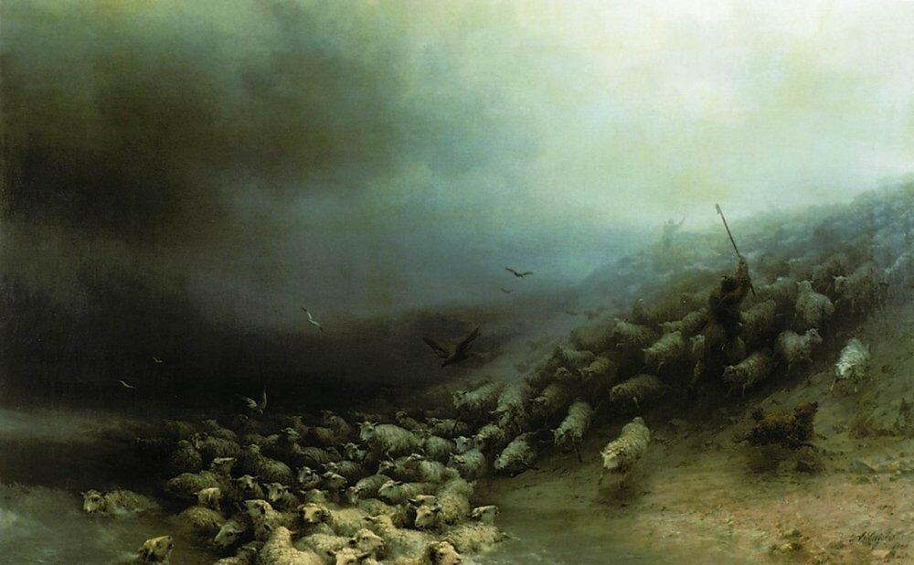 Отара овец в бурю. 1861.jpg