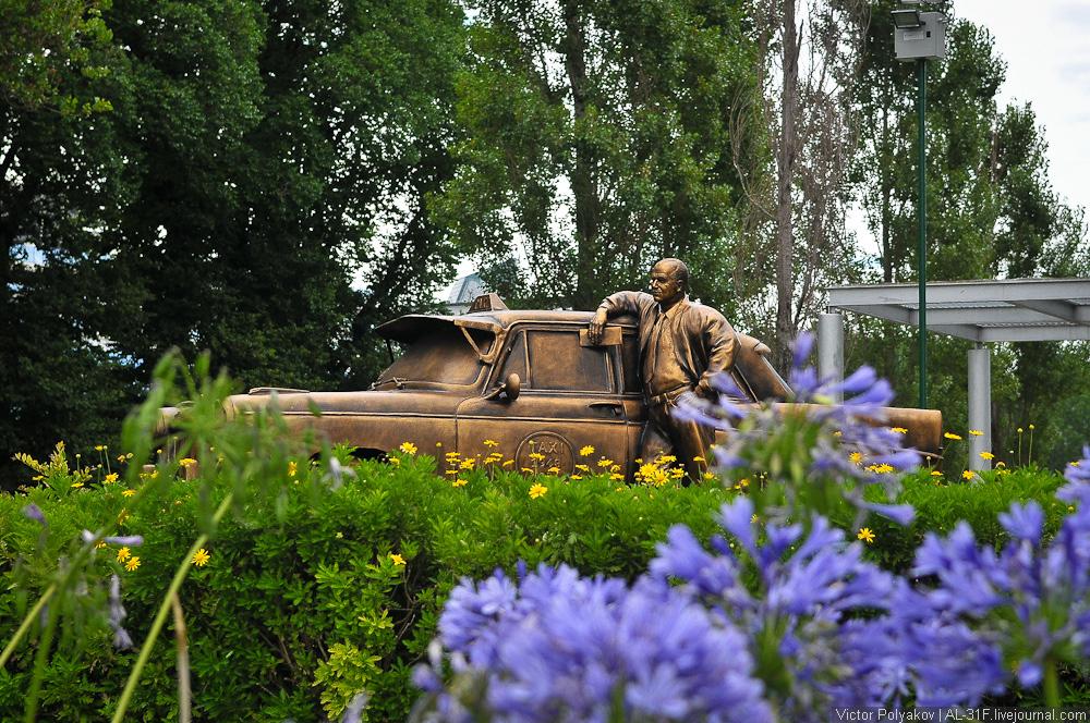 Буэнос-Айрес. Памятник таксисту