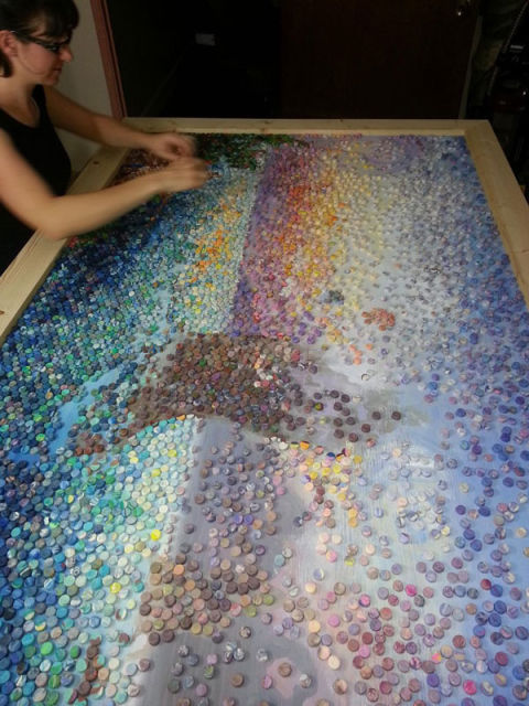 Американская художница делает мозаику из пластилина 0 11e9cf bfea7f05 orig