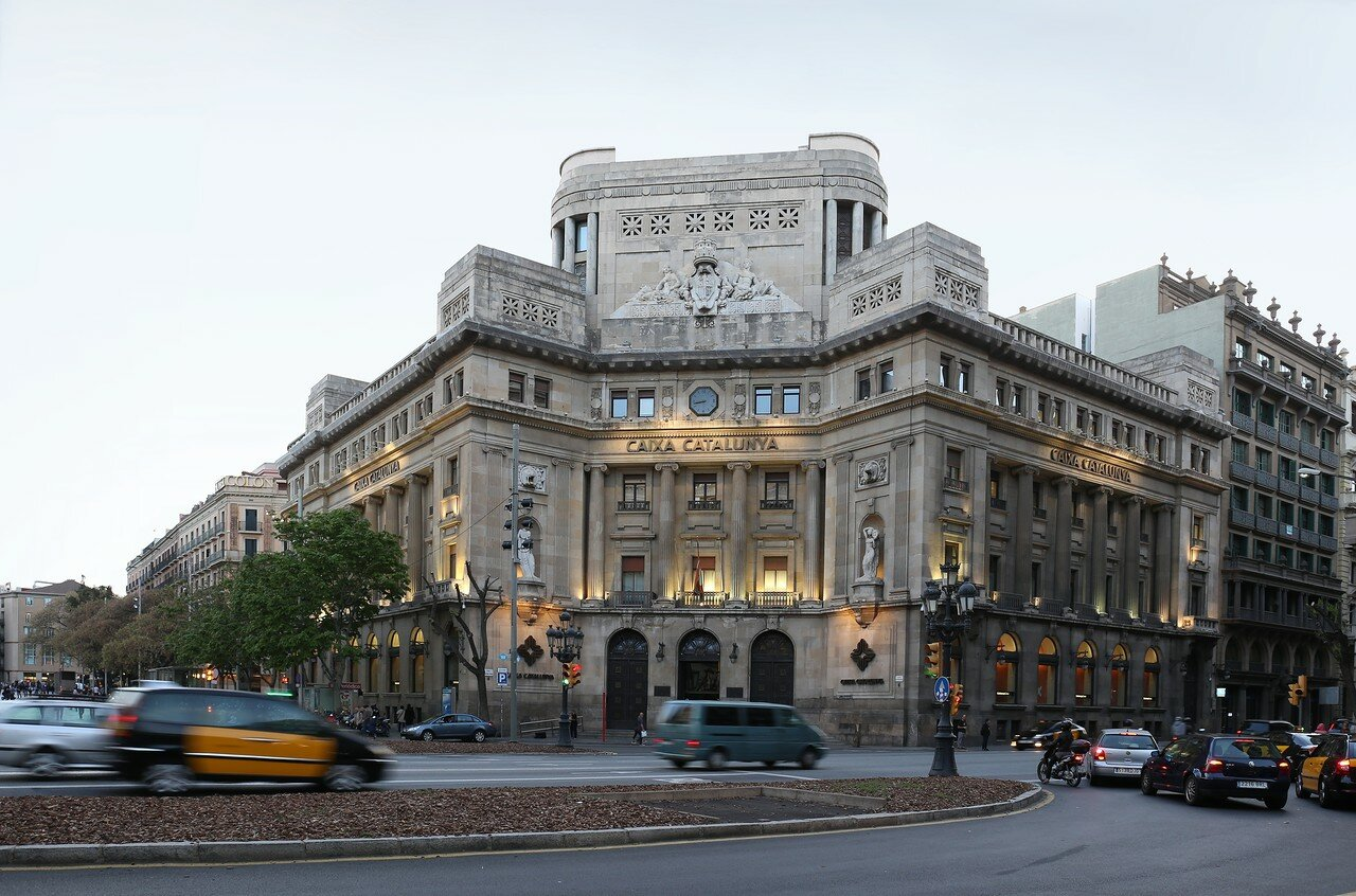 Барселона. Площадь Антона Маура, здание Банка Каталонии