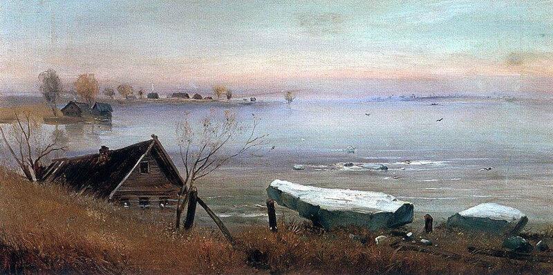 А. Саврасов. Весна на большой реке. 1880-е годы