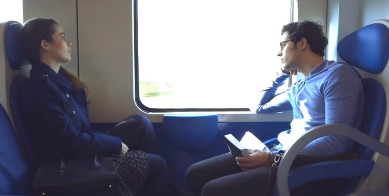 путешествие в поезде мужчина и женщина