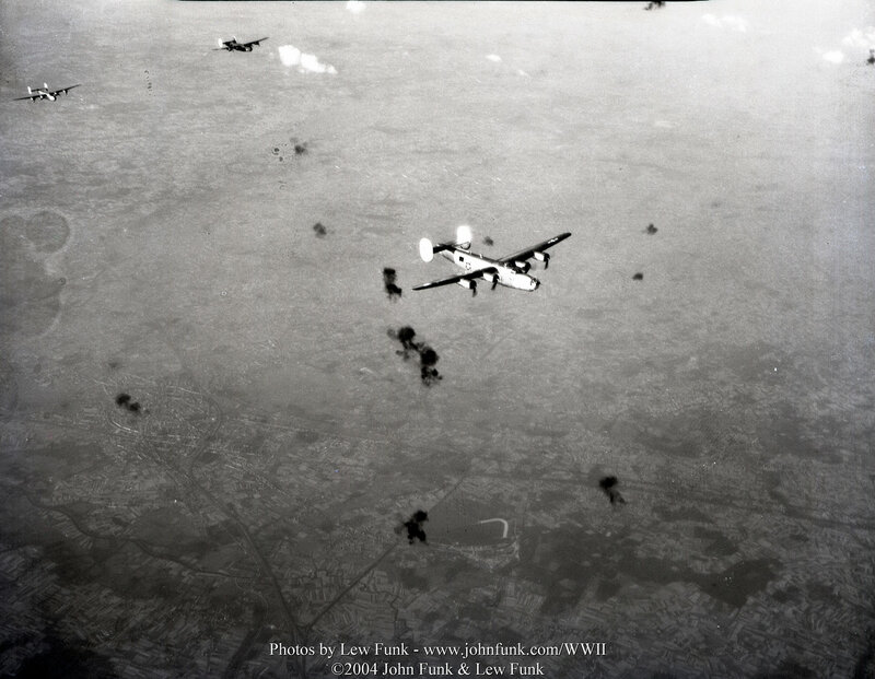 B24's on Mission to Brussels Belgium 3 Aug 1944