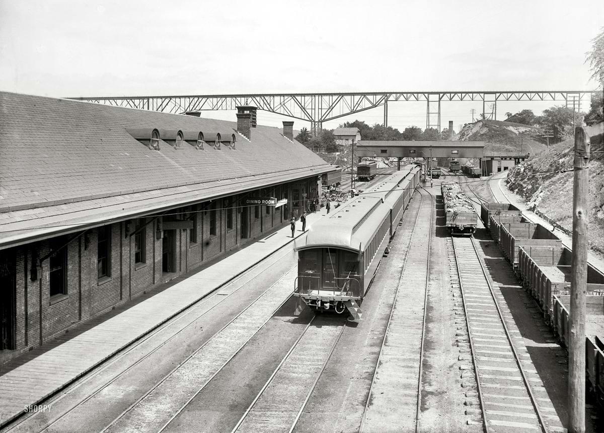Железные дороги конца 19-го - начала 20-го века на снимках американских фотографов (14)