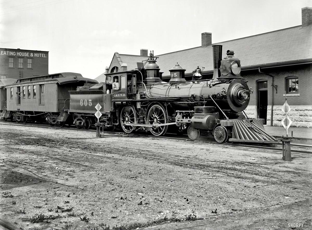 Железные дороги конца 19-го - начала 20-го века на снимках американских фотографов (19)