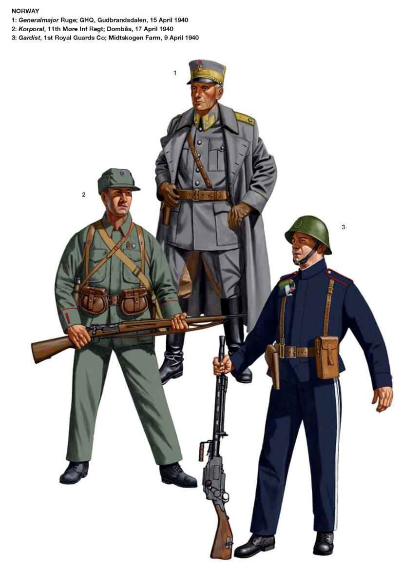 Военнослужащие норвежской армии
