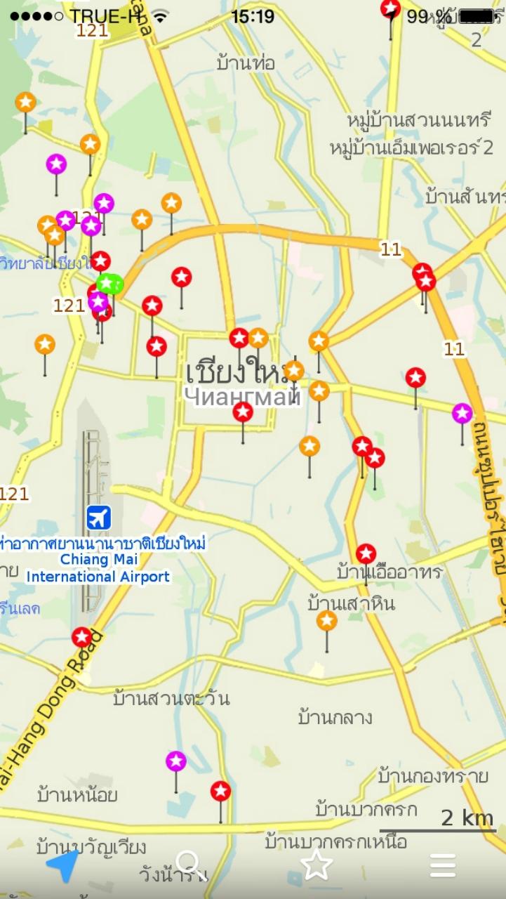 Отображение сохраненных точек на карте