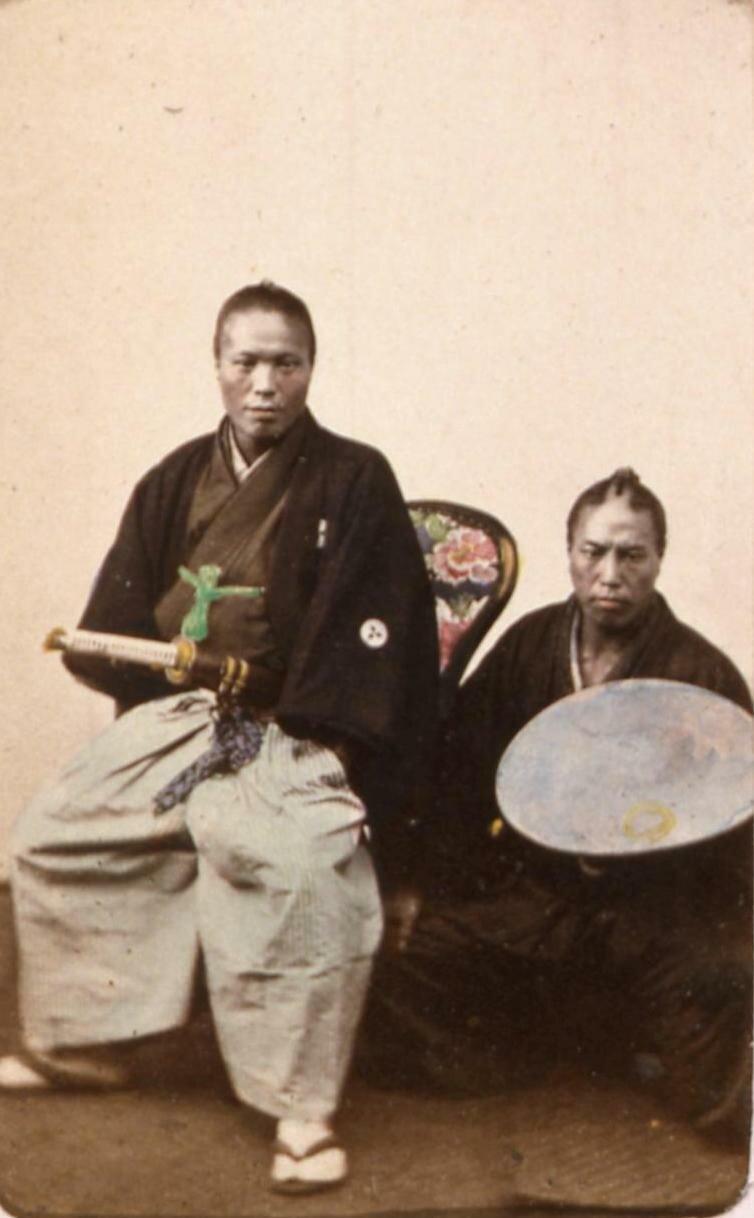 Офицер и его слуга. 1863