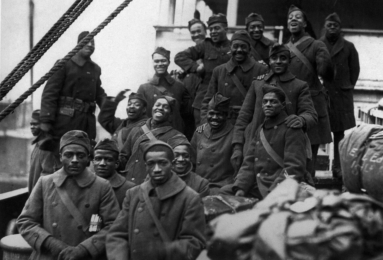1918. Негры в составе 367 пехотного полка, Нью-Йорк