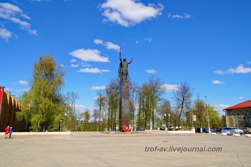 Памятник освободителю, парк Победы, Можайск Московской области