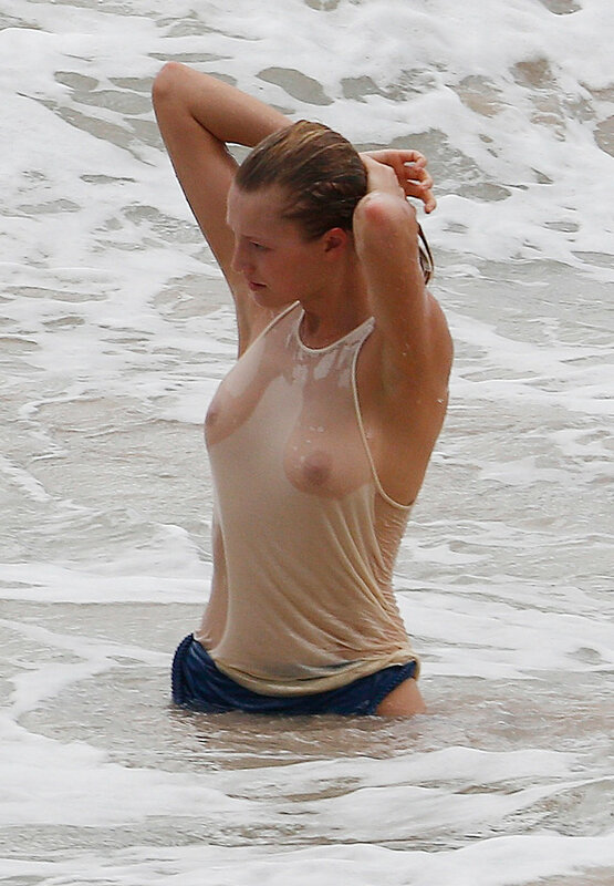 Toni Garrn Topless Cool At Beach For Photoshoot Youporn 1