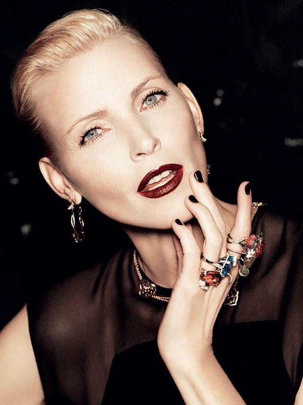 Надя Ауэрман (Nadja Auermann) в журнале L'Express Styles