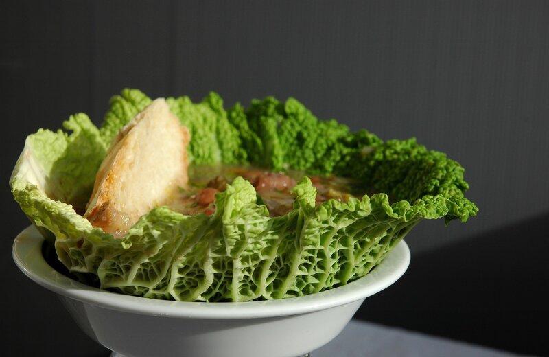 Суп с фасолью и квашеной капустой