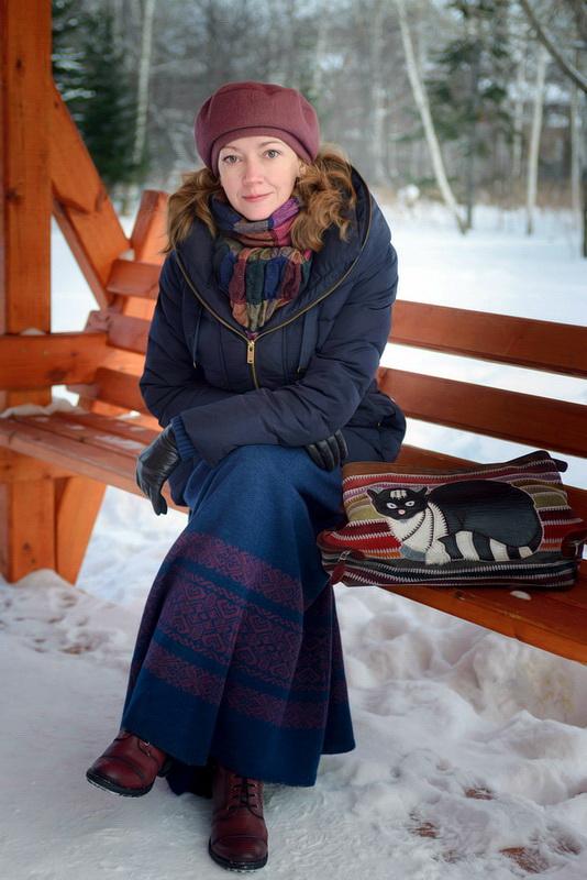 Юбка Макси Зимой