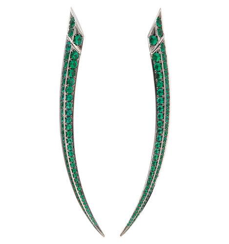 Gemfields' Shaun Leane - Earrings with 6.10ct of Zambian emeralds