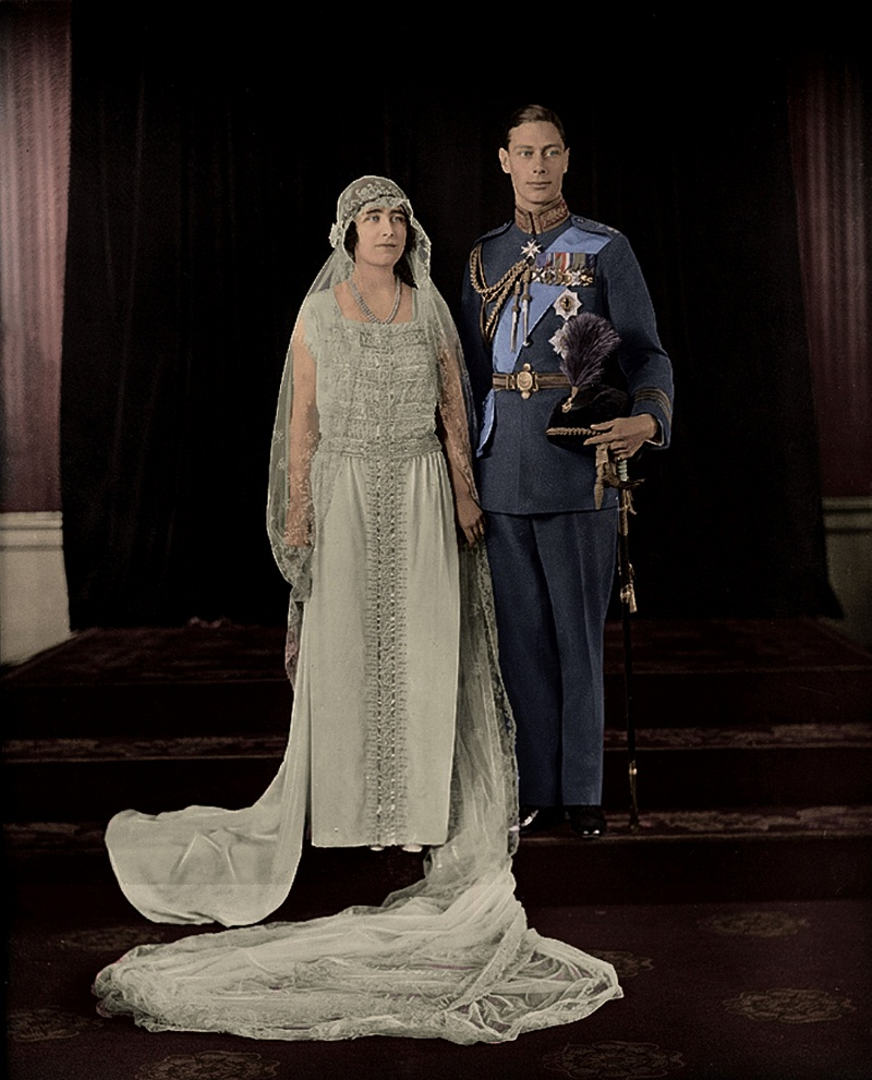 The Duke and Duchess of York (later King George VI and his queen, Elizabeth) on their wedding day, 26th April 1923.