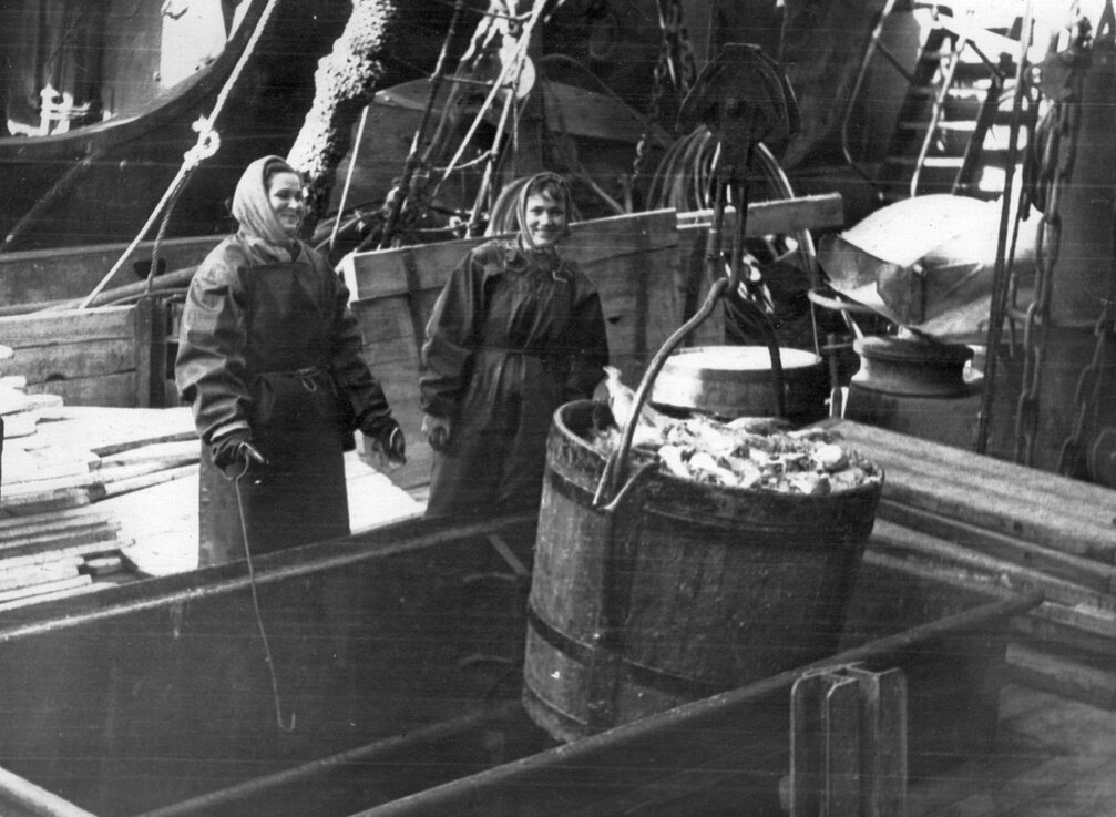 1960-е. Выгрузка рыбы