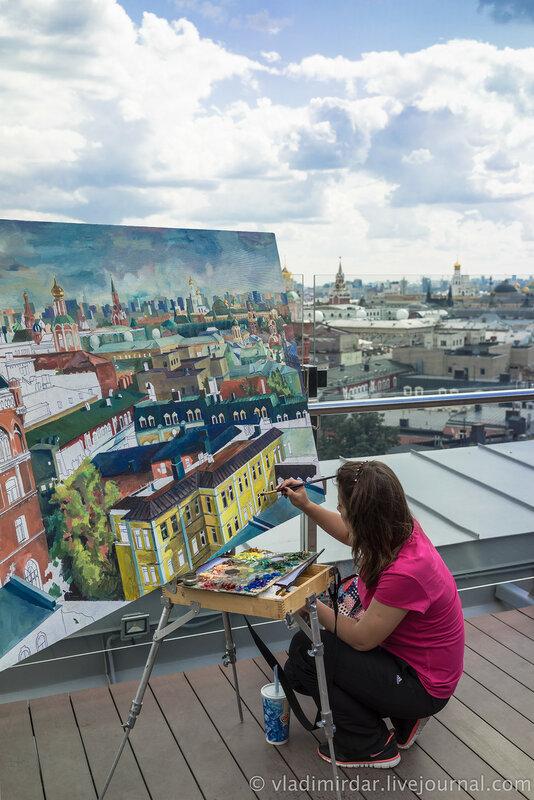 Рисую тебя - Москва!