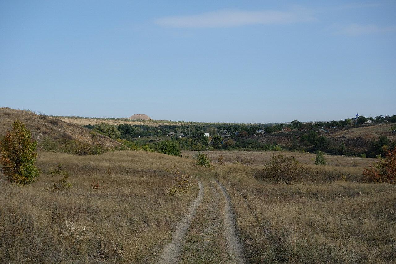 спуск к Калитве у хутора Погорелов