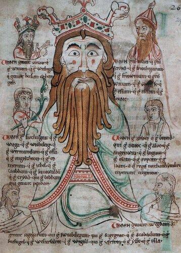 Odin & sons. Libellus de primo Saxonum uel Normannorum adventu. 12th century..jpg