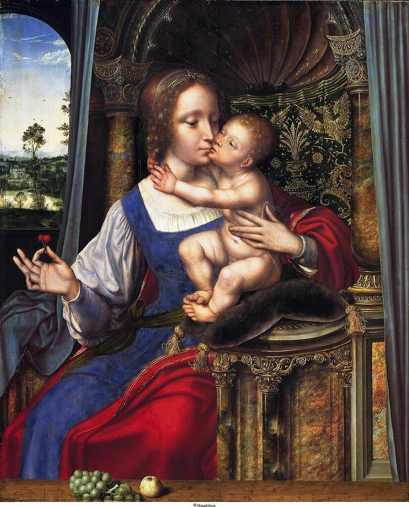 Massys, Quinten (приписывается) - Мадонна с младенцем, ок. 1529, 75 cm x 63 cm, Дерево, масло.jpg