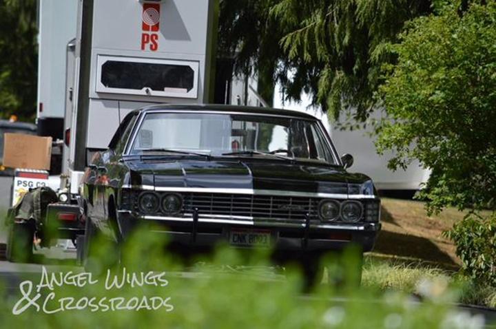 Легендарная черная «Импала» на съемках 11 сезона «Сверхъестественного»