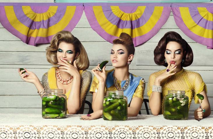 Фотографии апрельского номера Glamur Italia 2014