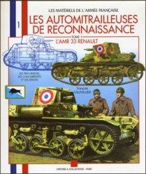 """Книга Les automitrailleuses de rekonnaissance """"Lamr 33 renault"""" (tome 1)"""