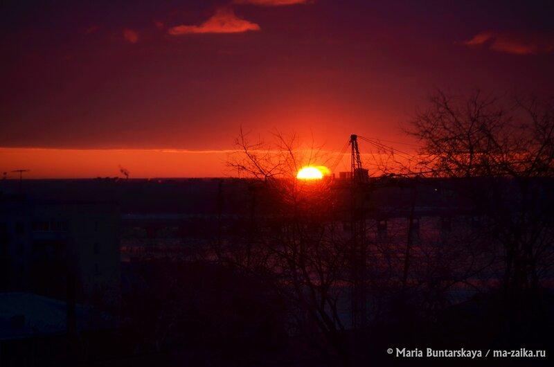 Солнце восходит, Саратов, 06 декабря 2014 года
