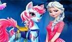 Маленькая Пони и Эльза из Холодного Сердца