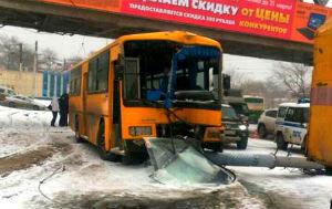 Авария с автобусом Владивосток