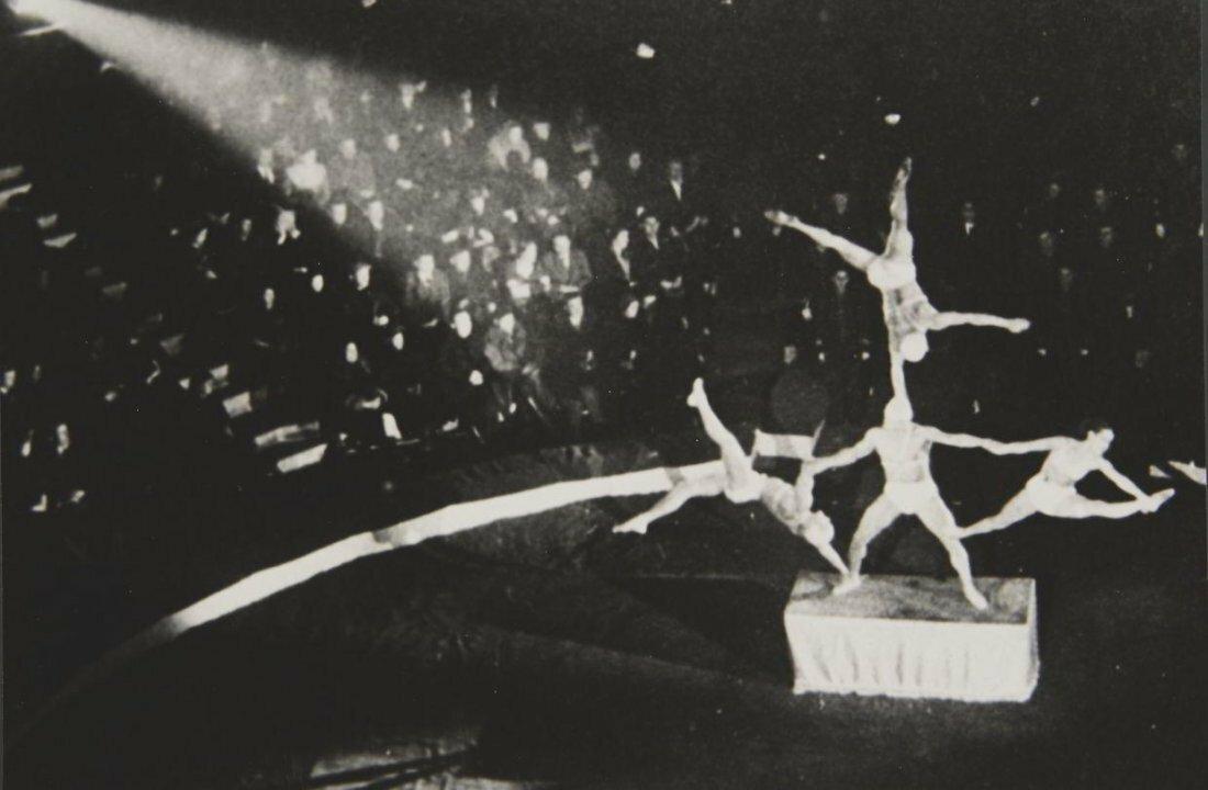 1937. Цирковые акробаты. Москва