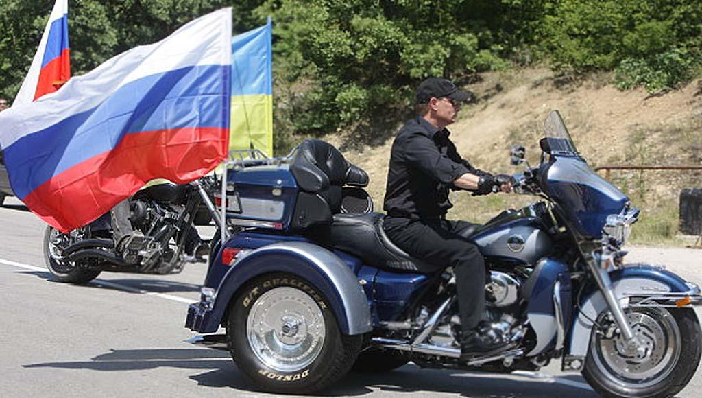 Russia's Prime Minister Vladimir Putin rides a Harley Davidson Lehman Trike 24/07/2010
