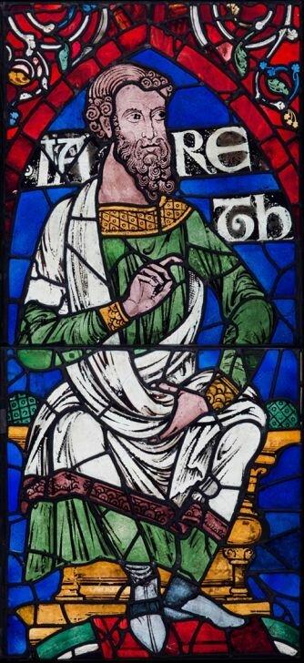 Иаред. Цикл предки Христа. Витраж, 1178-80. Кентерберийский собор..jpg