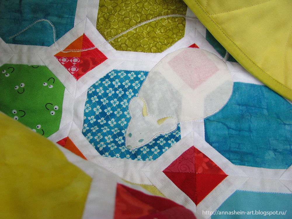 """Детское лоскутное одеяло """"Цветные сны"""""""