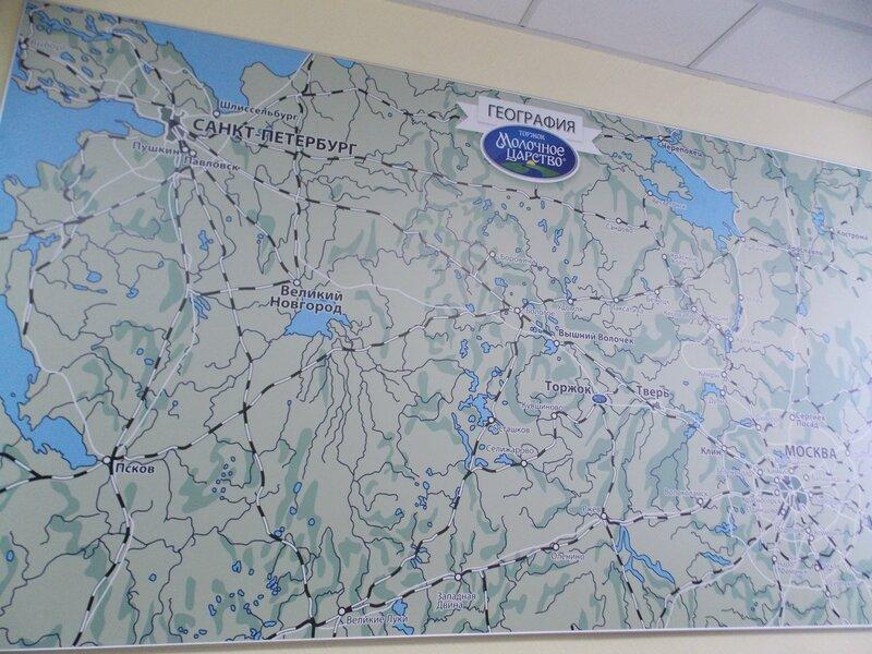 Карта поставок Торжокского молочного комбината
