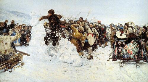 Суриков, Взятие снежного городка на Масленицу