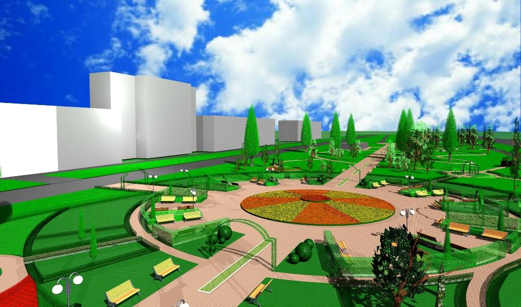 Схема сквера от ул.