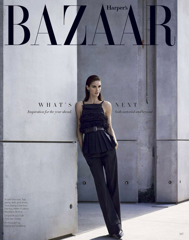 Хилари Рода (Hilary Rhoda) в журнале Harper's Bazaar US